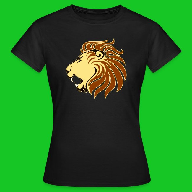 Leeuw profiel dames t-shirt