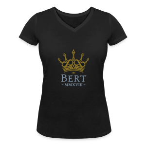 QueenBert 2018-Gold/Silver - Women's Organic V-Neck T-Shirt by Stanley & Stella