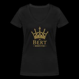 QueenBert 2018-Gold Glitter - Women's Organic V-Neck T-Shirt by Stanley & Stella