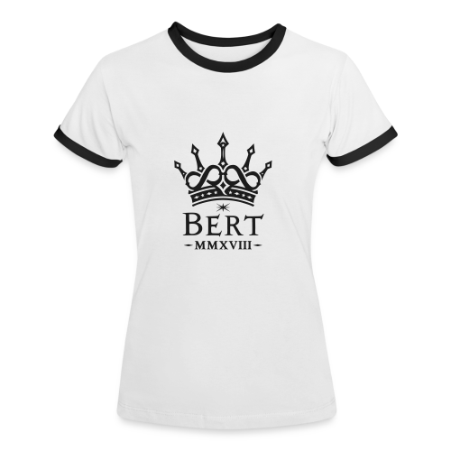 QueenBert 2018-Black Glitter - Women's Ringer T-Shirt