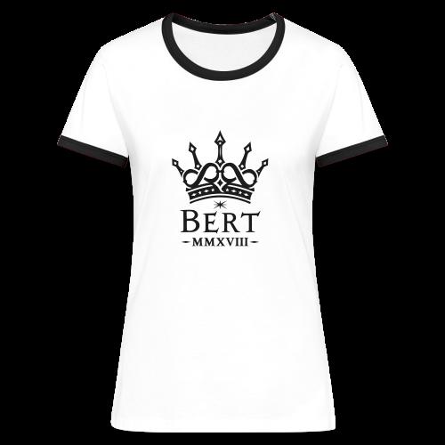 QueenBert 2018-Black Glitter - Women's Ringer T-Shirt