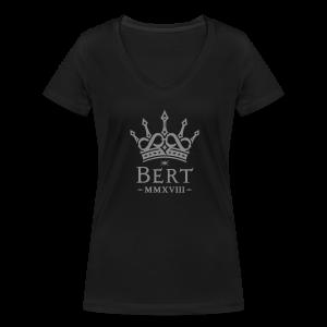 QueenBert 2018-Silver Glitter - Women's Organic V-Neck T-Shirt by Stanley & Stella