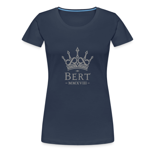 QueenBert 2018-Silver Glitter - Women's Premium T-Shirt