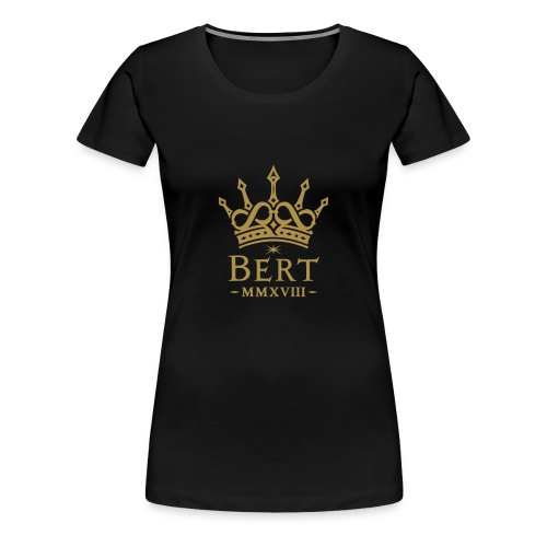 QueenBert 2018-Gold Glitter - Women's Premium T-Shirt