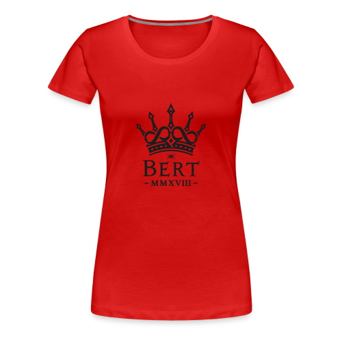 QueenBert 2018-Black Glitter - Women's Premium T-Shirt