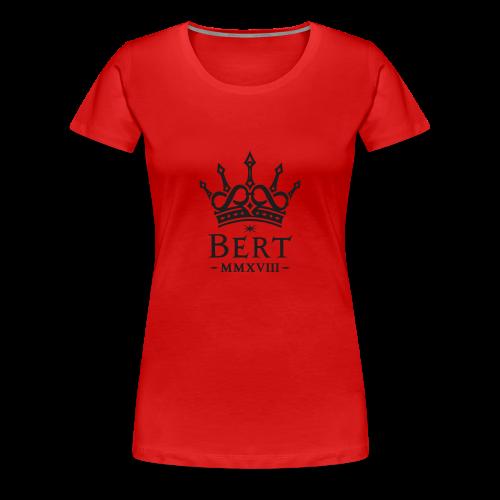 QueenBert 2018-Black Glitter - Women's Premium T-Shirt