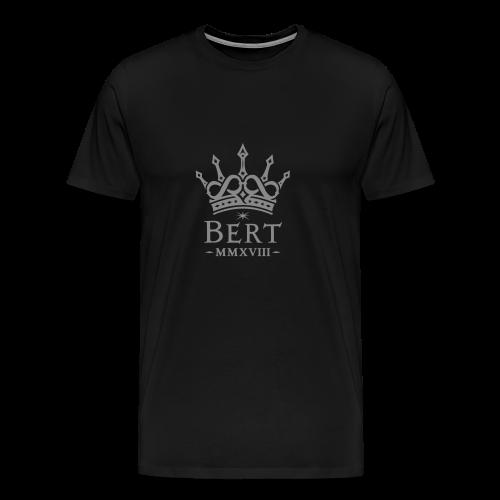 QueenBert 2018-Silver Glitter - Men's Premium T-Shirt