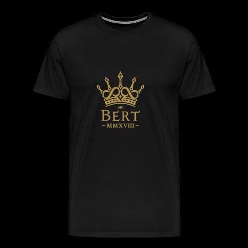 QueenBert 2018-Gold Glitter - Men's Premium T-Shirt