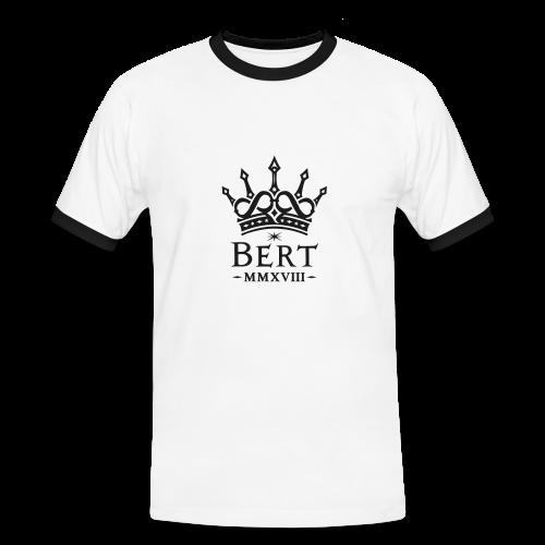 QueenBert 2018-Black Glitter - Men's Ringer Shirt