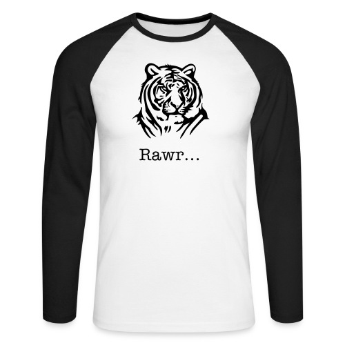 Rawr. - Men's Long Sleeve Baseball T-Shirt