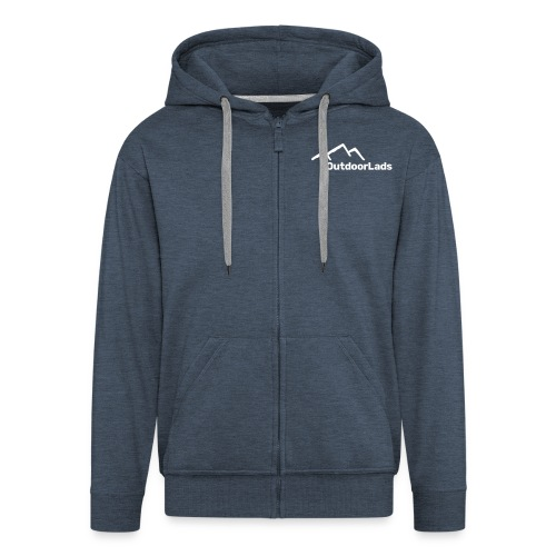 Men's Premium Hooded Jacket - Men's Premium Hooded Jacket