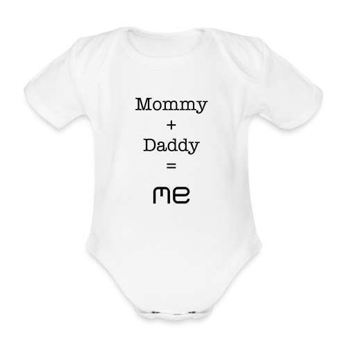 Mommy and Daddy - Organic Short-sleeved Baby Bodysuit