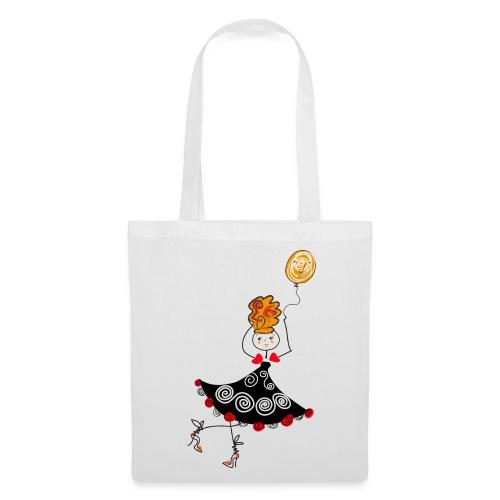 Borsa con Ballerina  - Borsa di stoffa