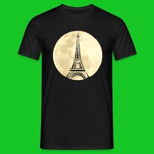 Parijs bij nacht heren t-shirt - Mannen T-shirt
