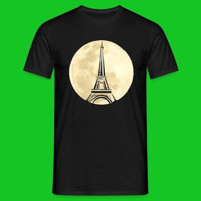 Parijs bij nacht heren t-shirt