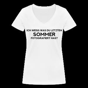 Letzter Sommer - Frauen Bio-T-Shirt mit V-Ausschnitt von Stanley & Stella
