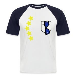 * Limeted Edition * T-shirt WI/BL Zonnebril - Mannen baseballshirt korte mouw