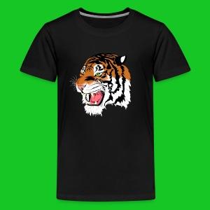 Tijger profiel teenager t-shirt - Teenager Premium T-shirt