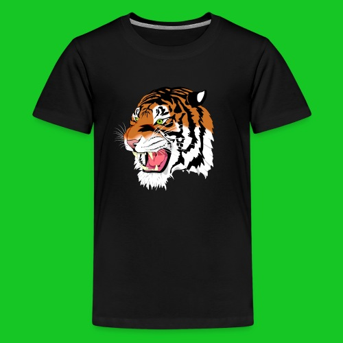 Tijger profiel teenager t-shirt - Teenager Premium T-shirt