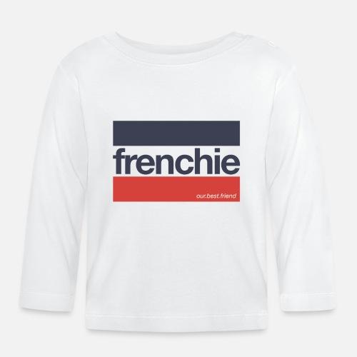 Frenchie Stripes - Baby Langarmshirt