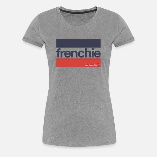 Frenchie Stripes - Frauen Premium T-Shirt
