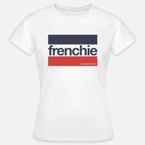 Frenchie Stripes - Frauen T-Shirt