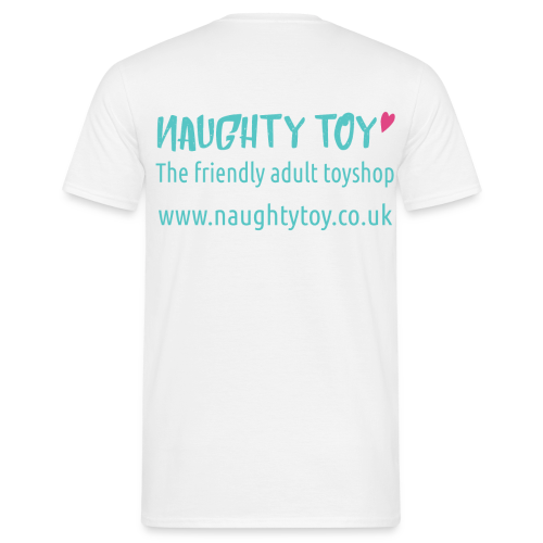Naughty Toy Logo Plain White Men's Tee - Men's T-Shirt