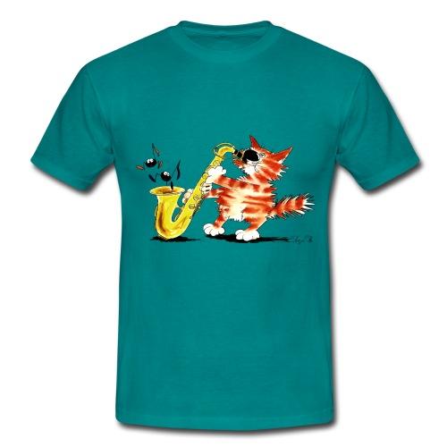 Saxokater - Männer T-Shirt