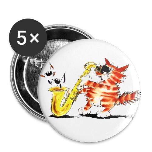 Saxokater - Buttons groß 56 mm