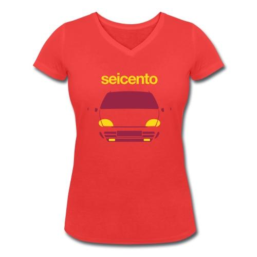 Women's Organic V-Neck T-Shirt - Seicento Sporting duotone - Women's Organic V-Neck T-Shirt by Stanley & Stella