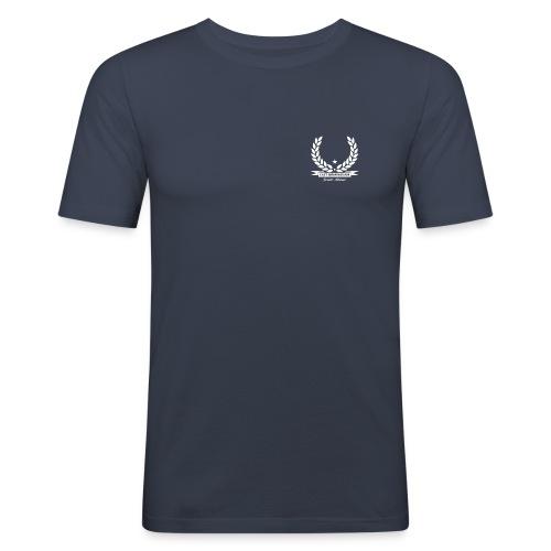 2 Stroke - T-shirt - EBSA logo on front, detail on back - Men's Slim Fit T-Shirt