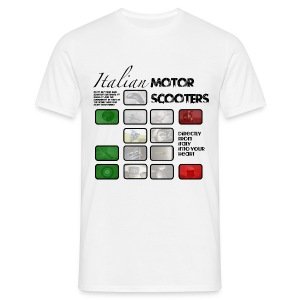 Italian Scooter - T-shirt - EBSA logo on back - Men's T-Shirt