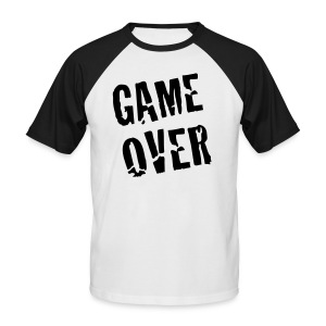 Game Over - Männer Baseball-T-Shirt
