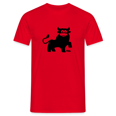 Red Taurus Men's T-Shirts