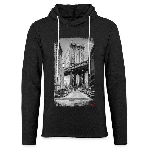 Manhattan bridge - Sweat-shirt à capuche léger unisexe