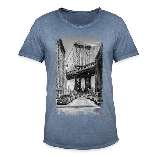 Manhattan bridge - T-shirt vintage Homme