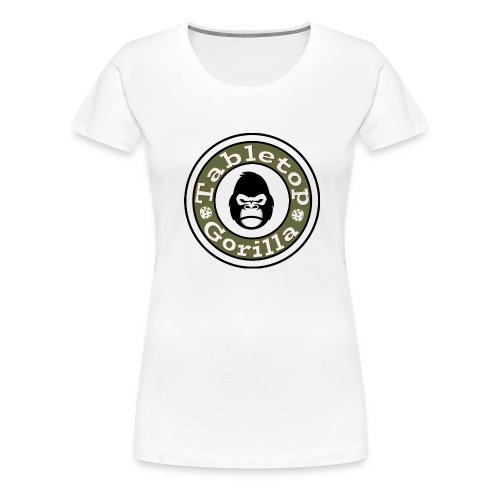 Girlie Gorilla Shirt mit Logo groß vorne - Frauen Premium T-Shirt