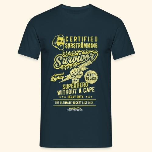 Certified Surstromming Survivor - Männer T-Shirt