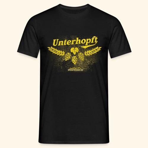 Unterhopft - das Original, distressed - Männer T-Shirt