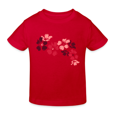 Red flowers Kids' Shirts