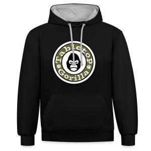 Gorilla Hoodie - Logo groß vorne - Kontrast-Hoodie