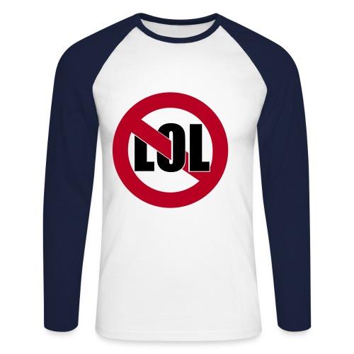 no LOL - Männer Baseballshirt langarm