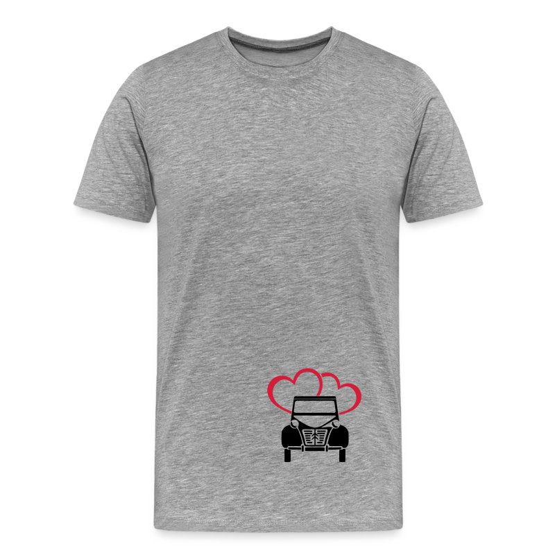 Citroen 2CV Retro Hearts-2 - Men's Premium T-Shirt