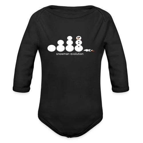 Schneemann Evolution - Baby Bio-Langarm-Body