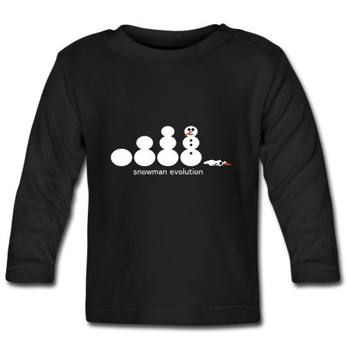 Schneemann Evolution - Baby Langarmshirt