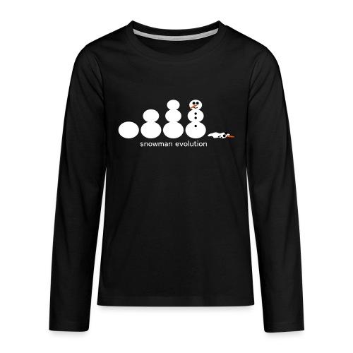 Schneemann Evolution - Teenager Premium Langarmshirt