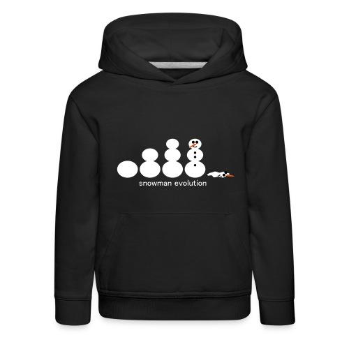 Schneemann Evolution - Kinder Premium Hoodie
