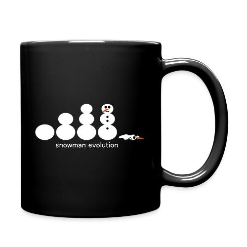 Schneemann Evolution - Tasse einfarbig