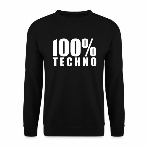 100% Techno - Pullover - Männer Pullover