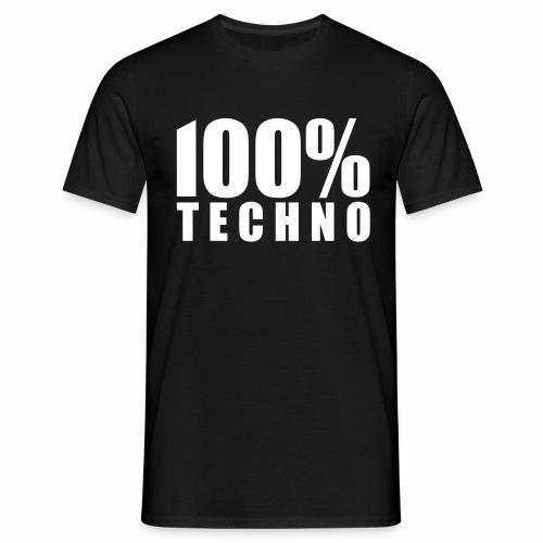 100% Techno - T-Shirt - Männer T-Shirt